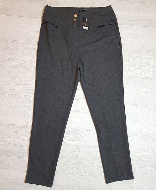 🔴SELECT grey stretchy slim fit trousers. Size 18