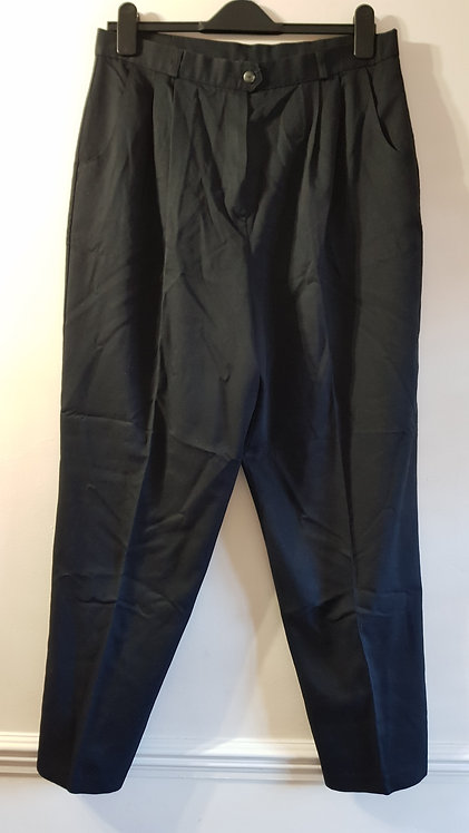 Classic black high waist trousers. Size 18.