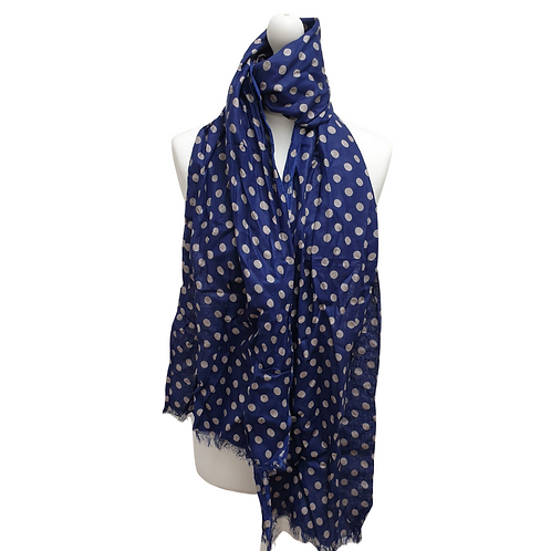 Bewitched Blue spotty scarf