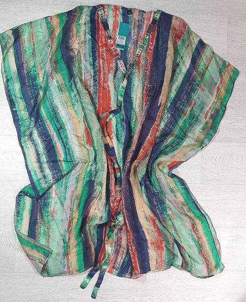 Palme silk kimono/beach poncho. M/L