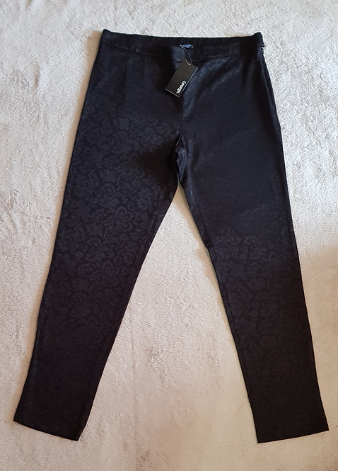 George. Black patterned slim trousers. Size 12. New with tags.