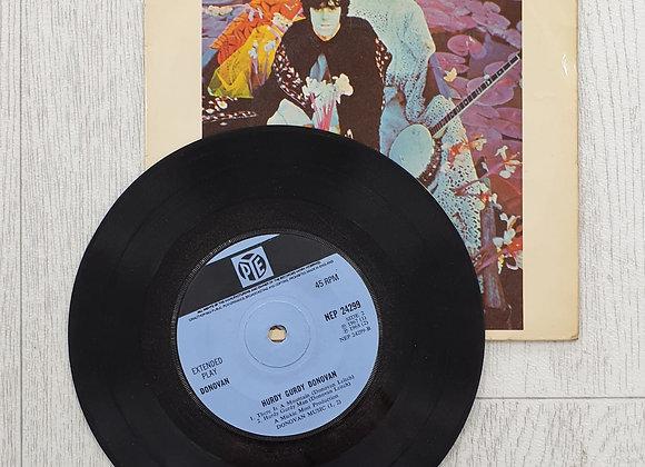 "Donovan - Hurdy Gurdy Donovan 7"" Vinyl 4 Track"
