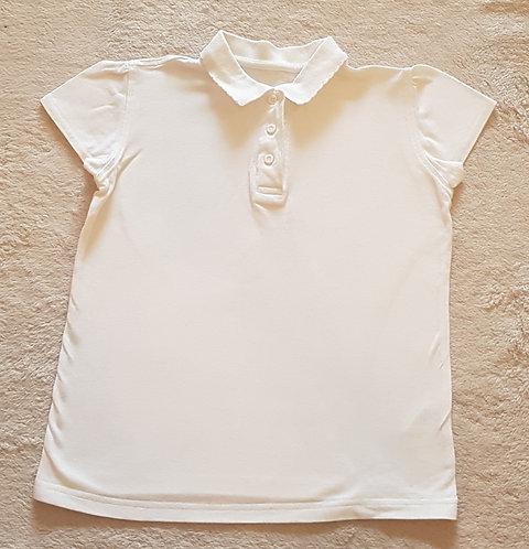 GEORGE White polo shirt 8-9yrs