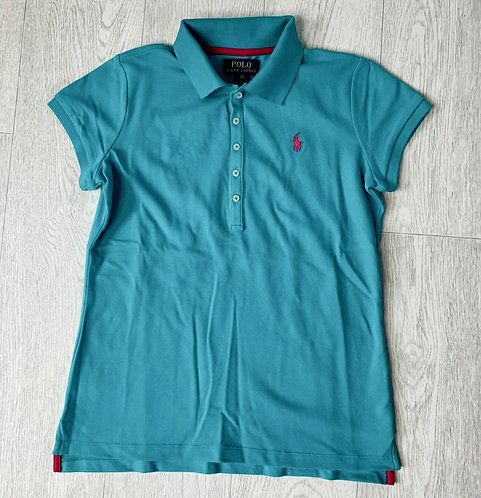 🌻Ralph Lauren turquoise slim fit polo shirt. Size XL (14-16) NWT
