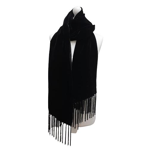 Debut Black velvet scarf NWT