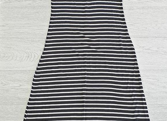 New Look black striped maxi dress. Uk 12