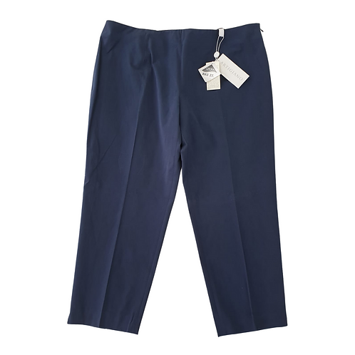 Artigiano navy crop trousers. Uk 18 NWT