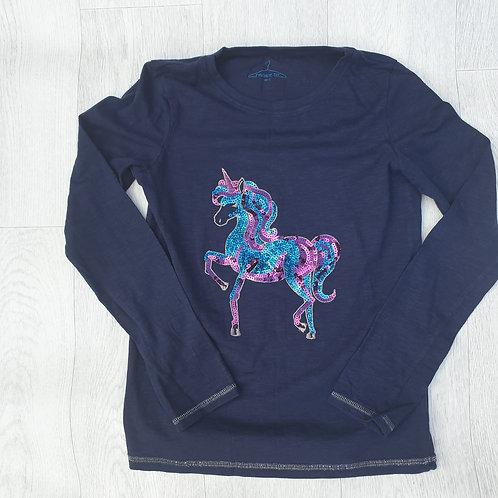 ⭐Next Unicorn navy sequin top. 12yrs