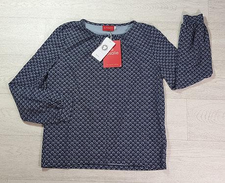 Rosalie by Lana blue patterned top. Size S