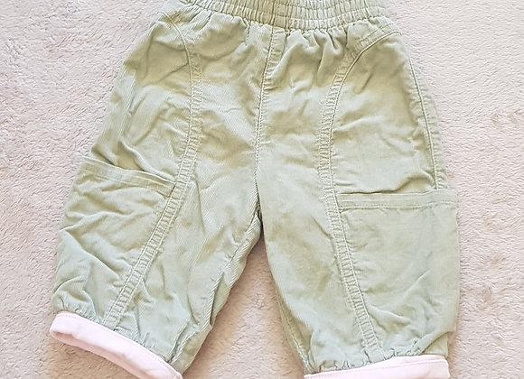 CATIMINI Green chord trousers. 3m /60cm