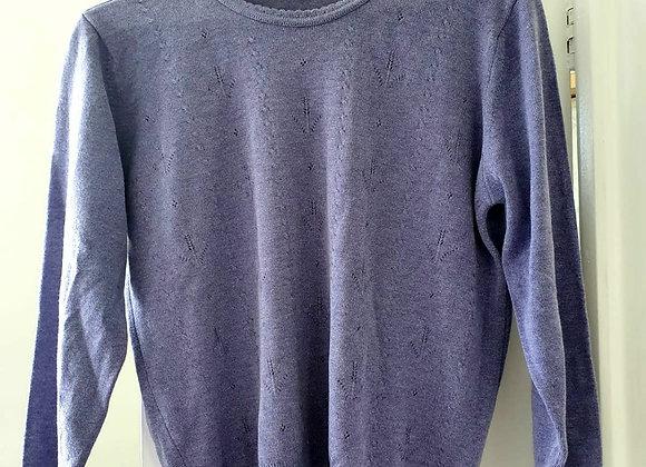 ○Berkertex purple sweater.  Size 14