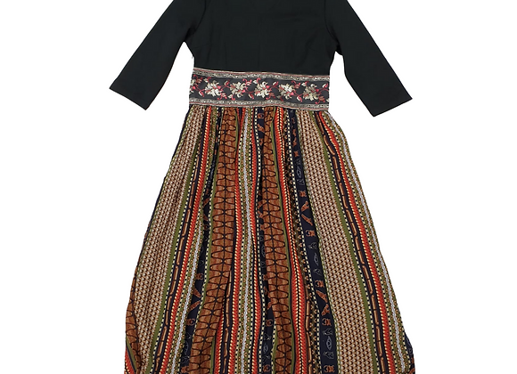 Eazo Egyptian print dress (green mix) NWT