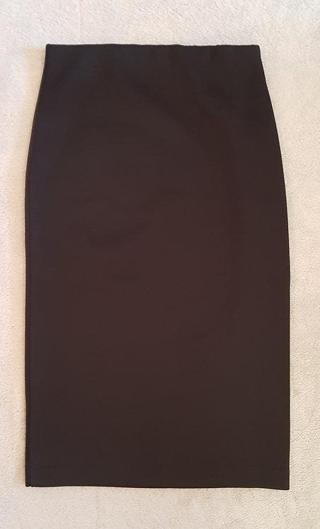 Black polyester pencil skirt. Size 10