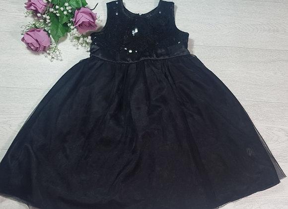F&F black sequin party dress. 5-6yrs