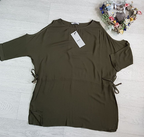 ONLY Khaki cold shoulder top. Size 12 NWT