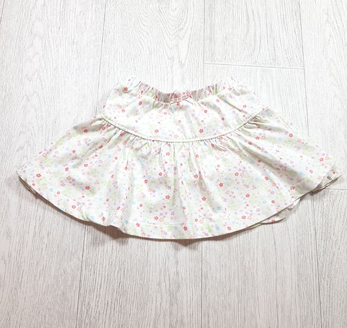 🌈Mothercare girls white floral skirt with sewn in knickers size 6-9 months