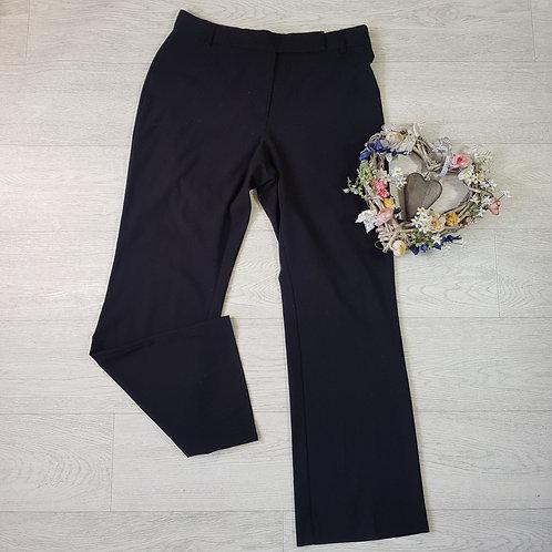 M&S black bootleg trousers. Size 10 short