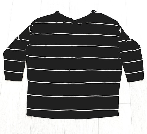 Warehouse black striped top. Uk 8