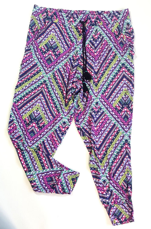 Tu patterned cropped harem trousers. Size 14