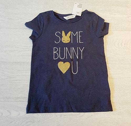 💙H&M navy bunny T-shirt. 6-8yrs NWT