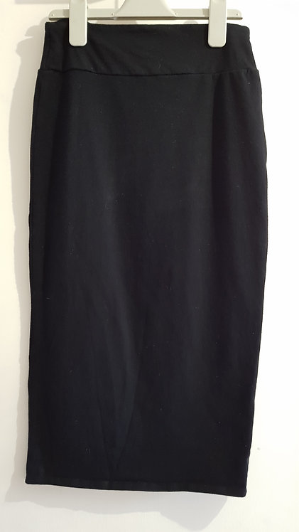River Island Black midi skirt. Size 10.