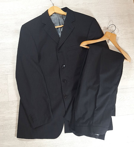 Next black striped suit trouser 32 inch blazer 40 inch