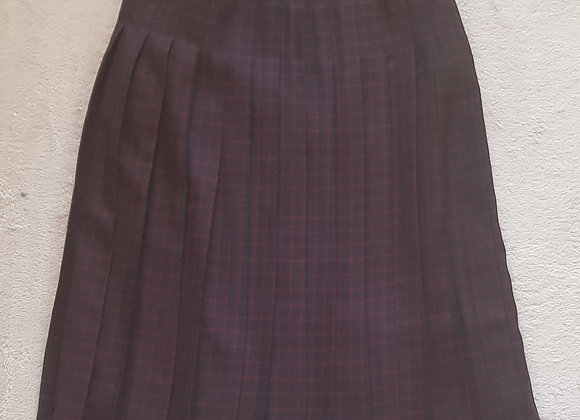 EDINBURGH COLLECTION Pleated skirt. Pure new wool. Size 12