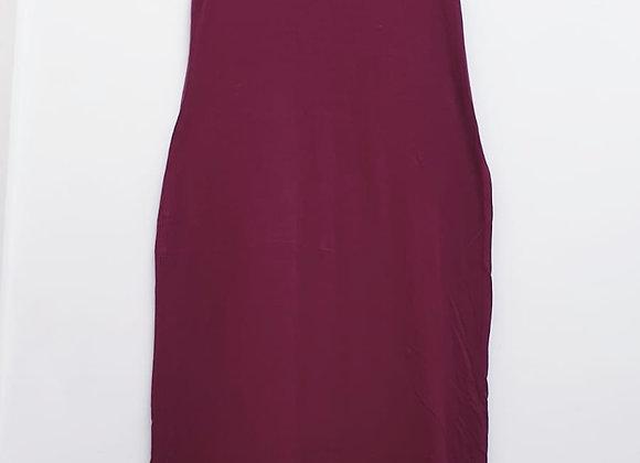 🕊Boohoo burgundy maxi dress. Size 14