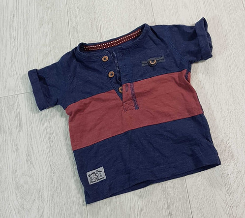 ◾Early Days blue/red t-shirt. 0-3m