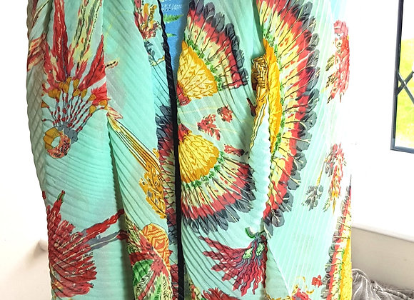 Bright turquoise scarf/shawl