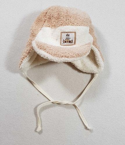 ◾Beige/cream winter fleece hat. 6 months