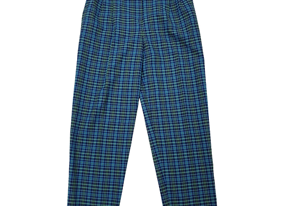 Alice Collins blue/green check vintage trousers. Uk 16