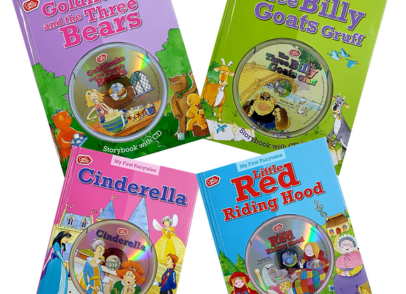 Chad Valley set of 4 story books with story CD's