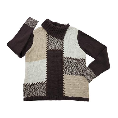 Bianca brown mix knit sweater. Uk 14