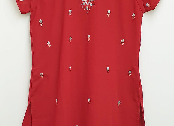 Ethnic red tunic. One size
