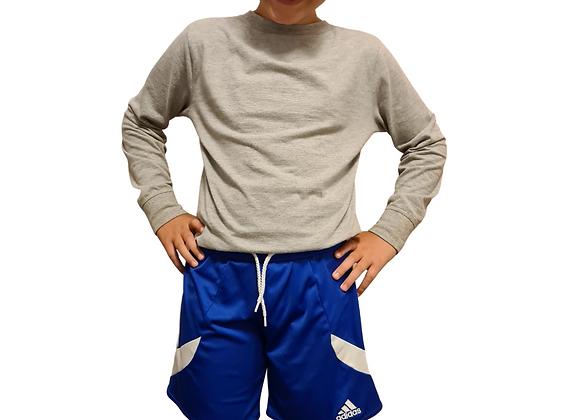 Adidas blue sports shorts. Youth Medium