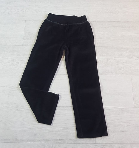 Black velour trousers. 7yrs