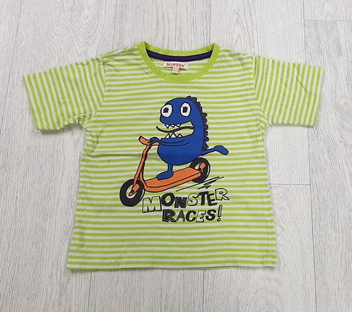 Bluezoo monster races t-shirt. 18-24m