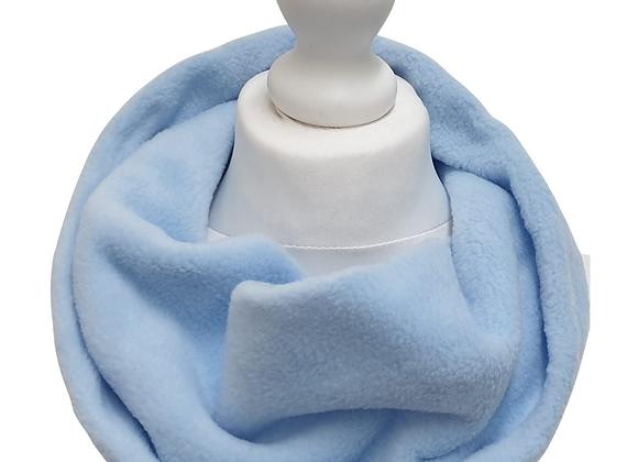 Blue fleece snood scarf