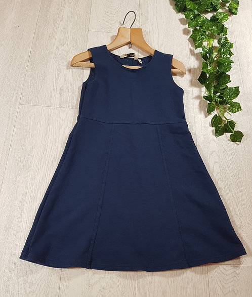 🐠Chiboogi Navy skater dress with blue love heart on the back size 8yrs