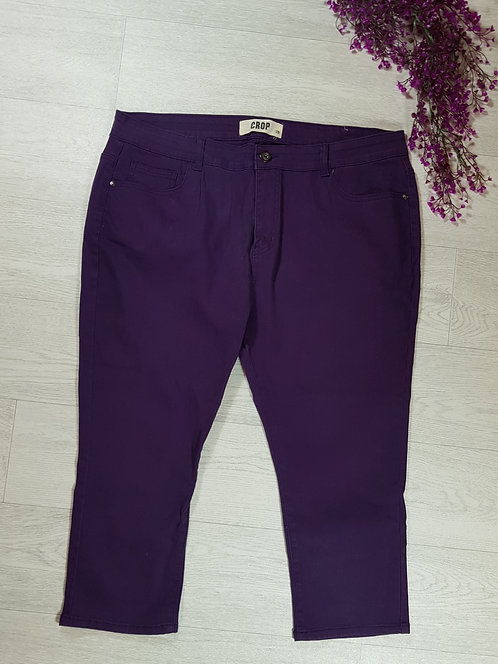 🍁Yours purple cropped trousers size 20