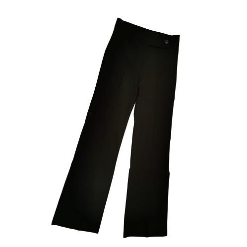Amaranto black trousers with waist button. Uk 12