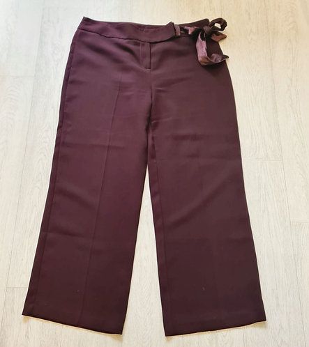 🍁George plum coloured wide leg trousers. Size 18
