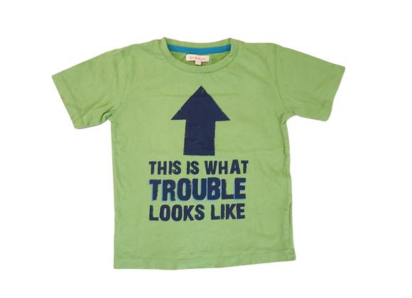Bluezoo Green t-shirt. 3-4yrs