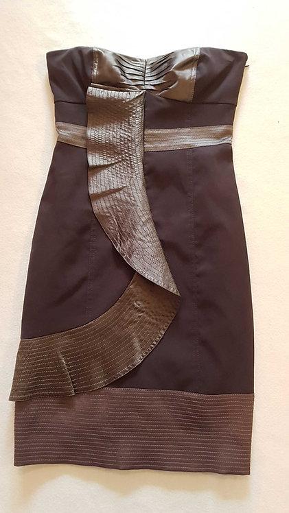 KAREN MILLEN Brown strapless dress size 8