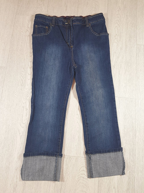 🚩Cropped denim roll-up jeans size 8
