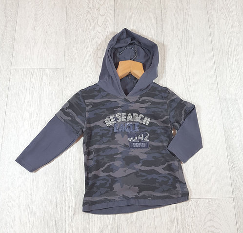 🌈Matalan boys camouflage research eagle hoodie size 12 -18 months