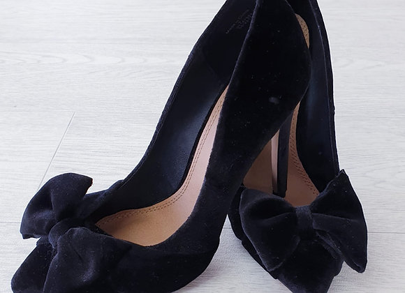 Asos black velvet heels.  Uk 4 NWOT