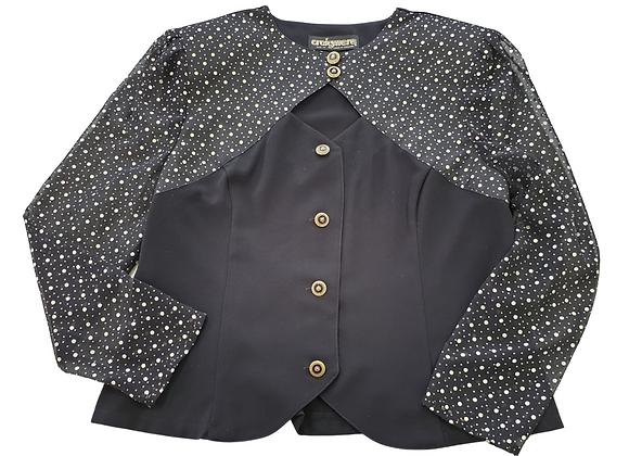 Craigmere vintage black spotty blouse. Uk 14