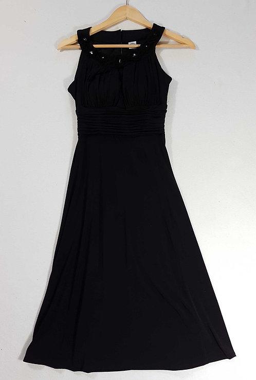 ◾Sangria long black dress with diamante detail. Size 8-10